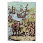 Columbus at Hispaniola Card
