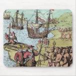 Columbus at Hispaniola Mouse Pad