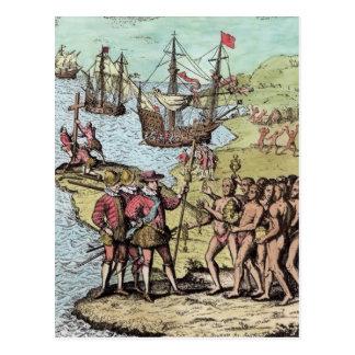 Columbus at Hispaniola Postcard