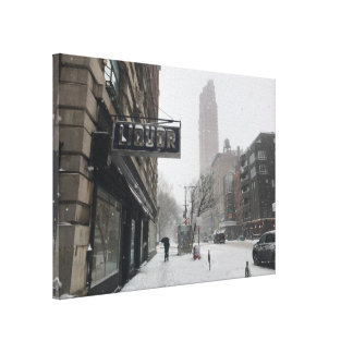 Columbus Avenue Liquor Store NYC Snowstorm Winter Canvas Print