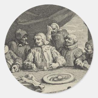 Columbus Breaking the Egg (Christopher Columbus) Classic Round Sticker