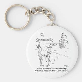 Columbus Cartoon 1333 Keychain