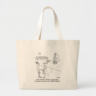 Columbus Cartoon 1333 Large Tote Bag