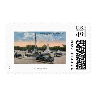 Columbus Circle & 8th Ave. Postage