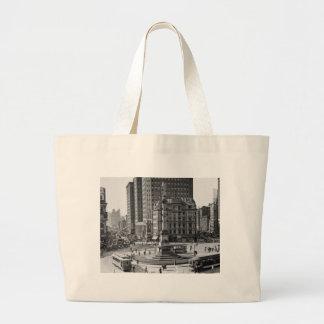 Columbus Circle Vintage Glass Slide Canvas Bag