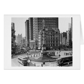 Columbus Circle Vintage Glass Slide Card