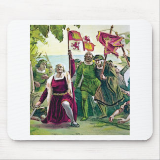 Columbus claiming the land mouse pad