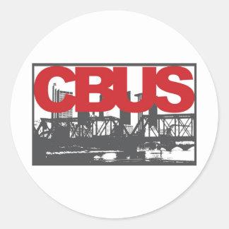 Columbus Classic Round Sticker