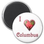 Columbus -- con el rosa rojo imanes