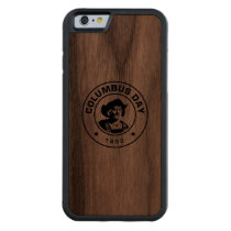 Columbus Day A1 Carved Walnut iPhone 6 Bumper Case