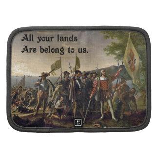 Columbus Day All Your Base Internet Meme Folio Planner