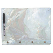 Columbus Day Dry Erase Board With Keychain Holder