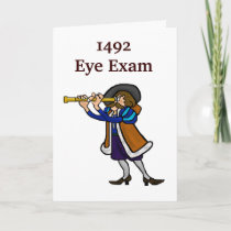 Columbus Day Greeting Card - 1492 Eye Exam