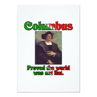 Columbus Day Custom Announcement