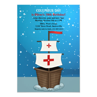 Columbus Day Invitation