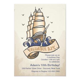 Columbus Day Ship Invitation