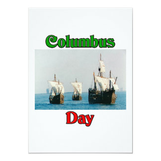Columbus Day Ships Card