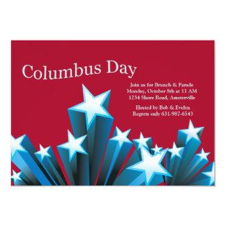 Columbus Day Stars Invitation