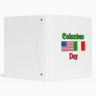 Columbus Day Vinyl Binder