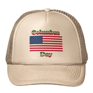 Columbus Day with Flag Trucker Hat