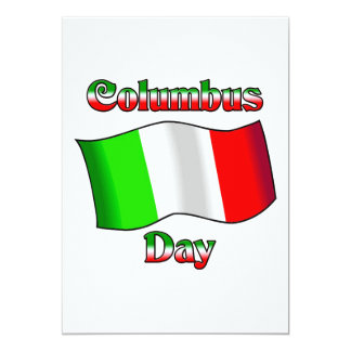 Columbus Day With Itailan Flag Custom Invitations