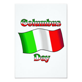 Columbus Day With Itailan Flag Custom Announcement