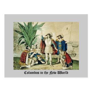 Columbus en el nuevo mundo postales