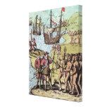 Columbus en La Española 2 Impresión En Lienzo Estirada