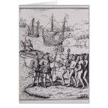 Columbus en La Española 2 Tarjeta De Felicitación