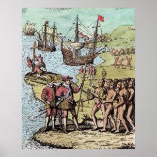 Columbus en La Española Poster