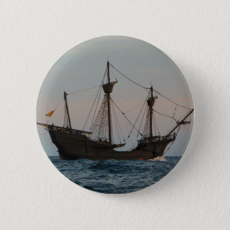 Columbus Era Ship Pinback Button