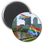 Columbus Flying Pride 2 Inch Round Magnet