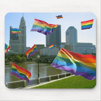 Columbus Flying Pride Mouse Pad