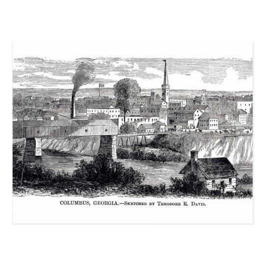 Columbus, GA 1868 Postcard