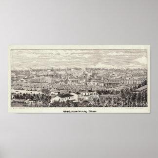 Columbus, GA - el mundo en la miniatura (1857) Poster