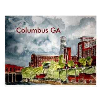 columbus ga georgia riverwalk river walk art, C... Postcard