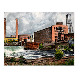 Columbus GA Phenix City AL landscape painting gift Postcard