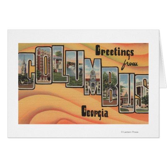 Columbus, Georgia - Large Letter Scenes Card