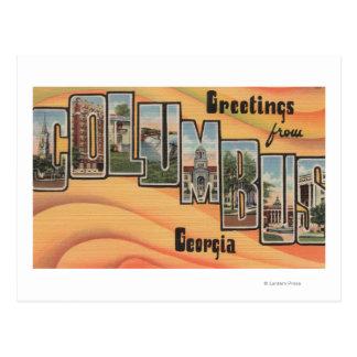 Columbus, Georgia - Large Letter Scenes Postcard