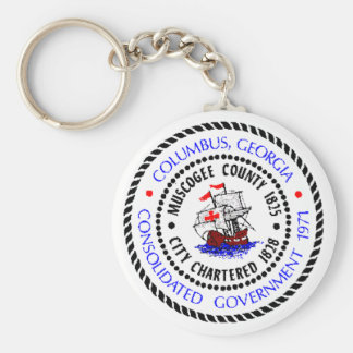 Columbus, Georgia Seal Keychain