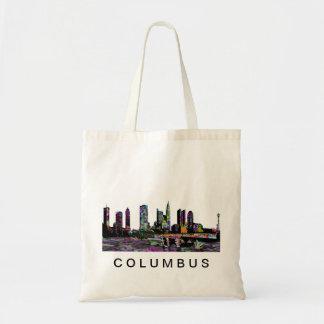 Columbus in graffiti tote bag