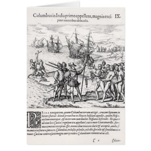 Columbus in What Was First Called India Greeting Card
