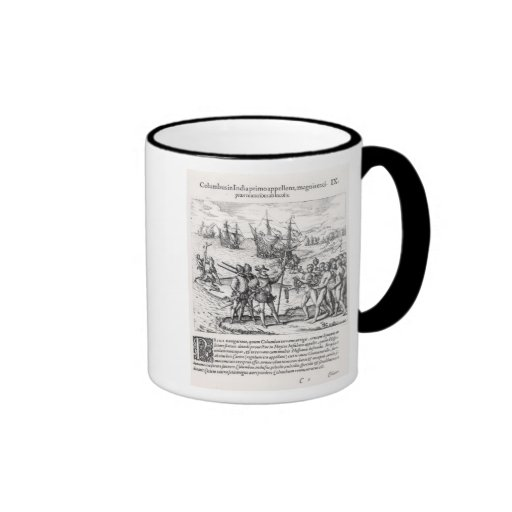 Columbus in What Was First Called India Mugs