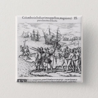 Columbus in What Was First Called India Pinback Button