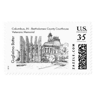 Columbus, Indiana: Bartholomew County Courthouse Postage