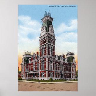 Columbus Indiana Bartholomew County Courthouse Poster