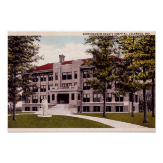 Columbus Indiana Bartholomew County Hospital Poster