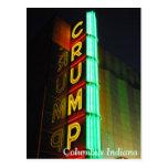 Columbus Indiana Crump el teatro Tarjetas Postales