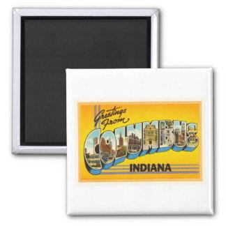 Columbus Indiana EN recuerdo viejo del viaje del Imán Cuadrado