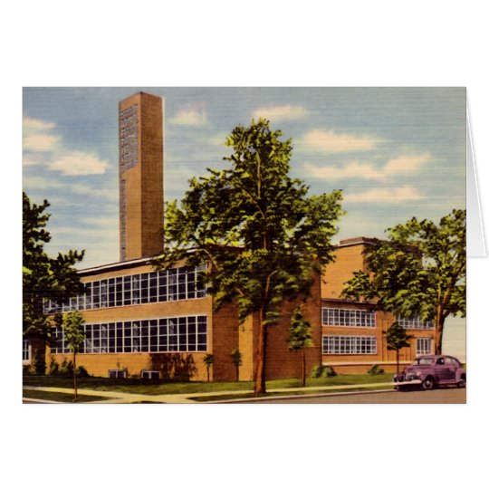 Columbus Indiana First Christian Church Card